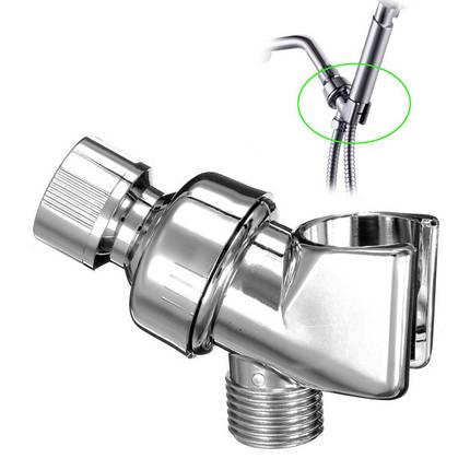 Регулируемый поворотный кронштейн держатель душевой головки с четырьмя отделенный трубопровод, фото 2