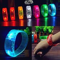 Голосовое управление LED индикатор светится браслеты браслет участника концерта