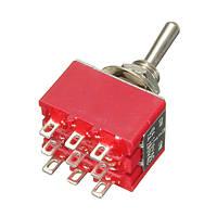9 контактов 3pdt 2а/250В 6а/125в вкл-выкл-на 3pdt миниатюрный тумблер