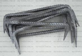 Строительная скоба 8*250 мм, неокрашенная