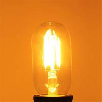 T45 E27 4W теплый белый 400lm початка LED нить ретро щелочных луковицы 110-240
