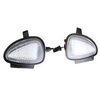 Белый Под боковое зеркало лужи 6 LED свет лампы для VW гольф гти мк6