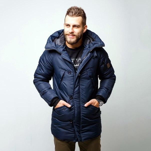 Зимняя куртка парка мужская темно-синяя бренд Red and Dog модель Онома (Onoma) XS, S, M, L, XL