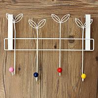Местность четырьмя крючками железа вешалка для одежды задняя дверь крючок сумка шапка