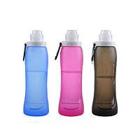 500мл силиконовая складная бутылка для воды портативный складной чайник для велосипедного спорта на открытом воздухе