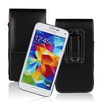 Талии повешены открыть вверх и вниз кожаный чехол для Samsung Galaxy s5mini