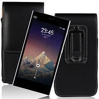 Универсальный талии повешены вверх-вниз кожаный чехол телефона мешок для смартфонов под 5 дюймов