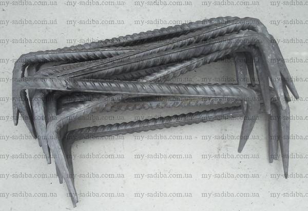 Строительная скоба 12*350 мм, неокрашенная