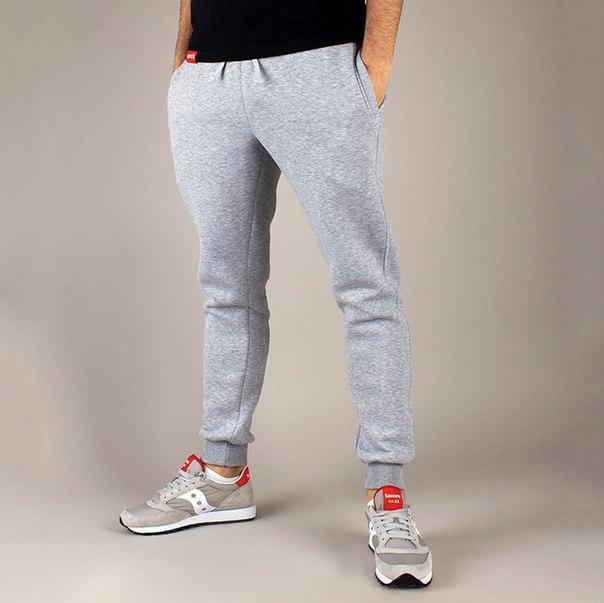 Зимние спортивные штаны серые бренд Punch модель Jog
