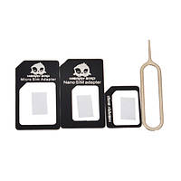 Микро+стандартная+нано SIM-карты адаптеры+извлечения пин-кода для смартфона