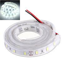 1м 5630 SMD белый LED силиконовая полоска света холодный белый водонепроницаемый 12V