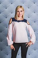 Блузка с открытыми плечами персик