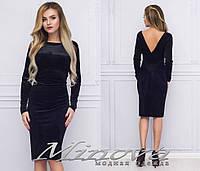 Нарядное платье из бархата на Новый год ТМ Minova недорого в интернет-магазине Украина ( р. 42-46 )