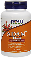 NOW  Adam Tablets Superior Mens Multi 60 таблеток