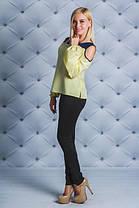 Блузка с открытыми плечами  желтая, фото 2