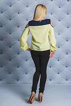 Блузка с открытыми плечами  желтая, фото 3