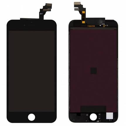 Дисплей (экран) для iPhone 6 Plus A1522 с сенсором (тачскрином) черный оригинал (Китай), фото 2
