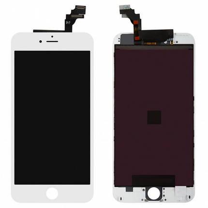 Дисплей (экран) для iPhone 6 Plus A1522 с сенсором (тачскрином) белый оригинал (Китай), фото 2