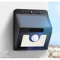 Уличный светодиодный светильник настенный Lemanso 8W 800LM IP44 с д/движения и солнечной батареей