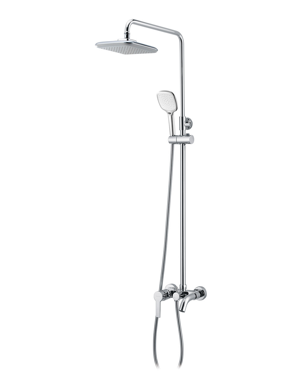 Душевая система (смеситель для ванны, верхний и ручной душ 3 режима, шланг 1,5м) IMPRESE BILA DESNE (T-10155)
