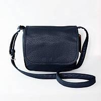 Женская синяя вместительная сумка кросс-боди М52-39
