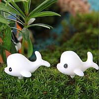 Поделки миниатюрный симпатичный Дельфин украшения горшечных растений садовый декор