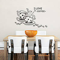 Ресторан кофе наклейки 3D Home Decration искусства обои