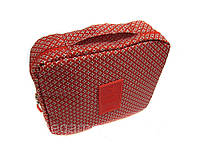 Дорожный органайзер для косметики Travel multi pouch(бордовый в звезды)