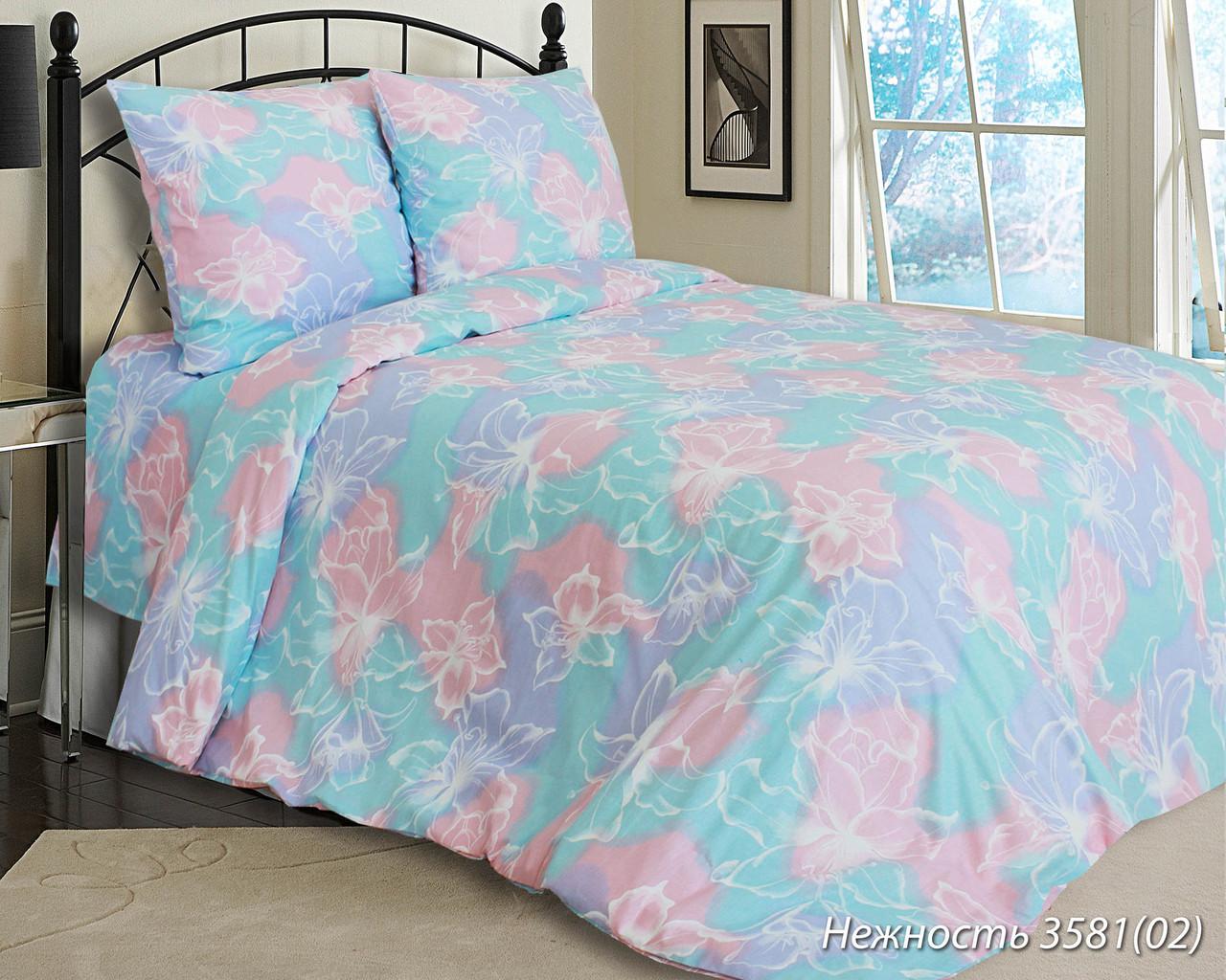 Комплект постельного белья полуторный  НЕЖНОСТЬ (навол.70*70)