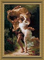 """Набор для вышивки крестиком 459 По мотивам западноевропейской живописи """"Гроза"""", 37*55 см"""