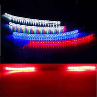 2шт красный сканирования света LED прокладка украшения проблесковый огонь