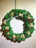 Декор новогодний Венок из мха стабилизированного