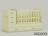 Кроватка-трансформер для новорожденного Maya Oris-mebel Слоновая кость (ваниль) ORIS133