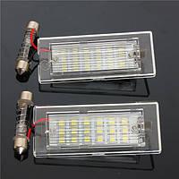 18 LEDы номерной знак света белый лампа для БМВ х3 е83 Х5 е53