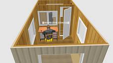 Мобильный офис с проходной (5 х 2.4 м.), на основе цельно-сварного металлокаркаса., фото 2