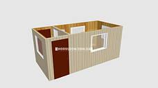 Мобильный офис с проходной (5 х 2.4 м.), на основе цельно-сварного металлокаркаса., фото 3