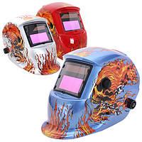 Огонь черепа солнечная авто затемнение сварочный шлем шлифовального дуговой аргонодуговой сварки MIG сварщиков маска 3 цвета