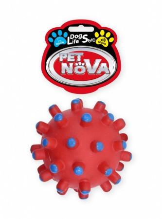 Игрушка для собак Зубной шарик Pet Nova 11 см красный