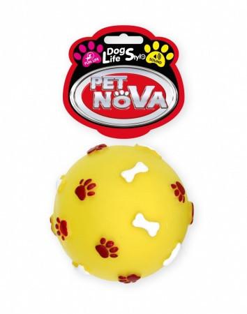 Игрушка для собак Мяч с гравировкой Pet Nova 7.5 см