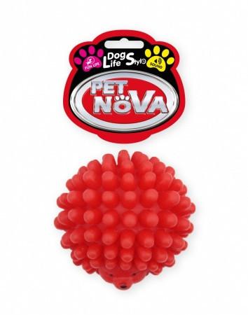 Игрушка для собак Ёжик виниловый Pet Nova 6.5 см