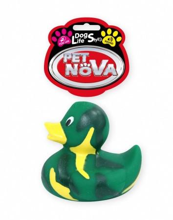 Игрушка для собак Утка зеленая Pet Nova 7 см
