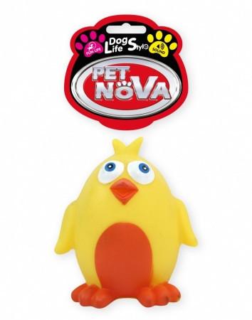 Игрушка для собак Мультяшный цыпленок Pet Nova 10 см
