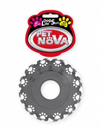 Игрушка для собак Шина с лапой и костью Pet Nova 11 см