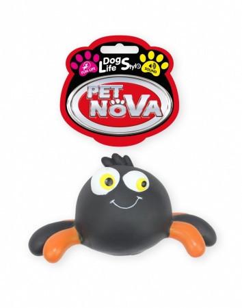 Игрушка для собак Паук с пищалкой Pet Nova 15 см