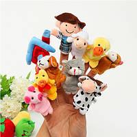 10 шт семье пальчиковые куклы ткани куклы детские образовательные руку игрушку