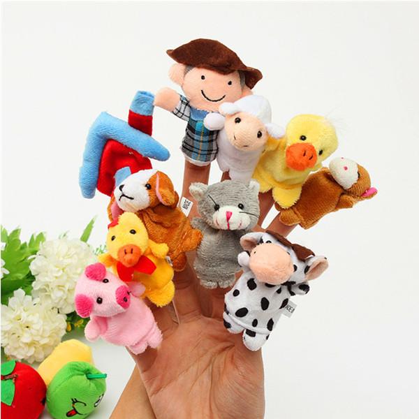 10 шт семье пальчиковые куклы ткани куклы детские образовательные руку игрушку - ➊TopShop ➠ Товары из Китая с бесплатной доставкой в Украину! в Днепре