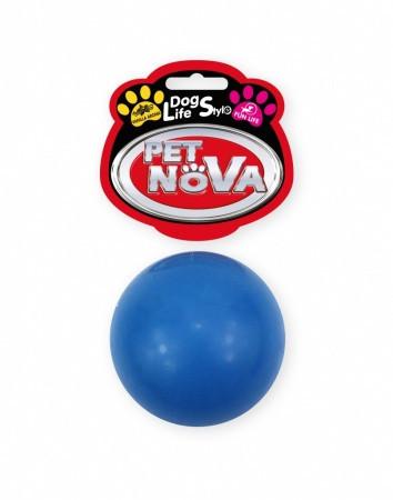 Іграшка для собак М'яч гумовий Pet Nova 5 см Синій