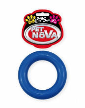 Игрушка для собак Кольцо каучуковое Pet Nova 9см  Синий
