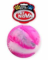 Игрушка для собак Мяч разноцветный Jupiter PetNova 8 см (XL)