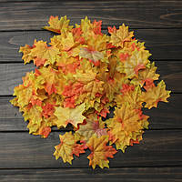 100шт искусственные листья клена падают листья участнику декор орнамент